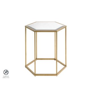 An Image of Alveare Brass Side Table