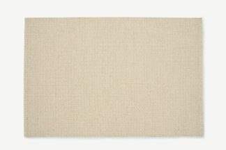 An Image of Mellis Wool-Blend Flatweave Rug, Large 160 x 230cm, Natural Check