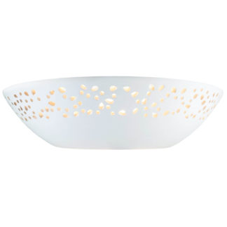 An Image of Abelia Ceramic Punched Wall Light