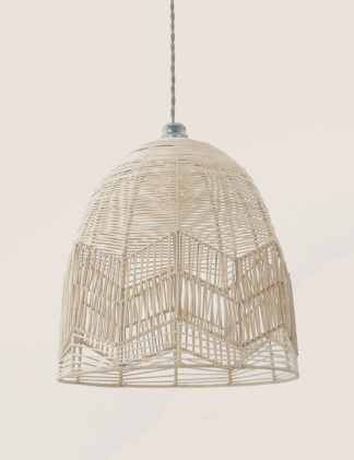 An Image of M&S Rattan Easy Fit Shade