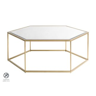 An Image of Alveare Brass Coffee Table