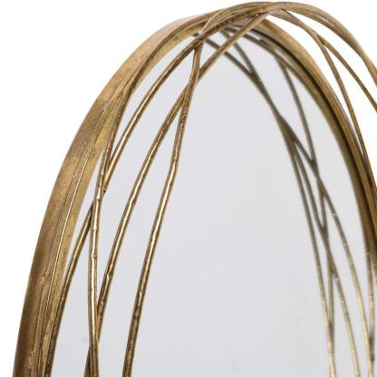 An Image of Etwined Gold Mirror