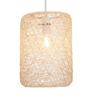 An Image of Abaca Straight Cylinder Pendant - Natural