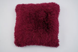 An Image of Argos Home Eyelash Luxe Cushion - Red