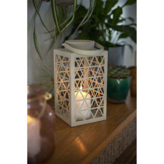 An Image of Explorer Square Metal Garden Lantern