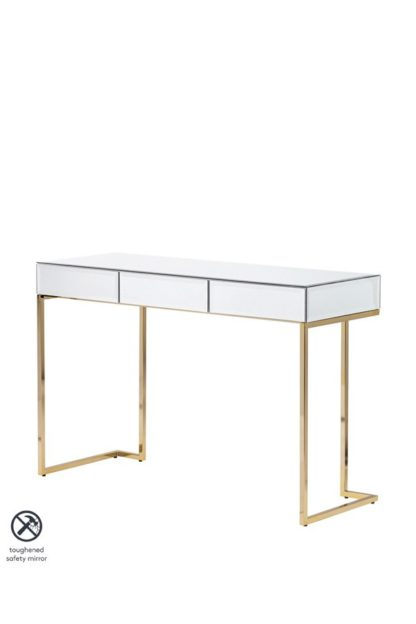 An Image of Lorenzo Toughened Mirror Console Table