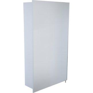 An Image of Croydex Maiford Single Door Illuminated Aluminium Bathroom Cabinet
