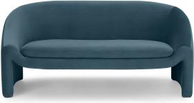 An Image of Shona 2 Seater Sofa, Coastal Blue Velvet