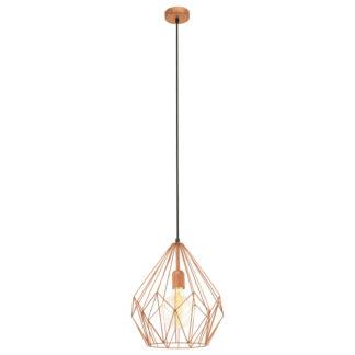 An Image of Eglo Carlton Pendant Light - Copper-Coloured