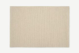 An Image of Mellis Wool-Blend Flatweave Rug, Large 160 x 230cm, Natural Stripe