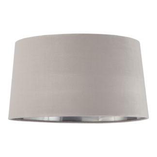 An Image of Samet Velvet Drum Shade - Grey - 45cm