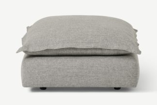 An Image of Fernsby Footstool, Silver Recycled Weave