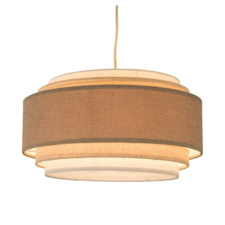 An Image of Sienna 5 Tier Easy Fit Pendant Lamp Shade - Natural