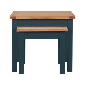 An Image of Bromley Blue Nest of Tables Blue