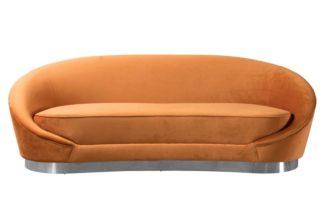 An Image of Selini Three Seat Sofa - Pumpkin