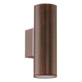 An Image of Eglo Riga Outdoor LED Up/Down Light - Brown