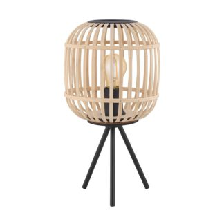 An Image of Eglo Bordesley Wooden Table Lamp