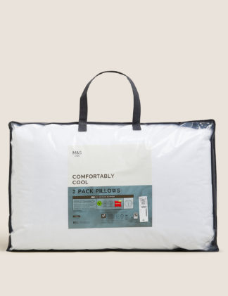 An Image of M&S 2 Pack Comfortably Cool Pillows