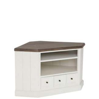 An Image of Berkshire Reclaimed Wood Low Corner TV Cabinet