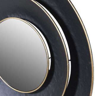 An Image of Black Tiered Mirror