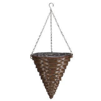 An Image of 14 Hazel Faux rattan cone