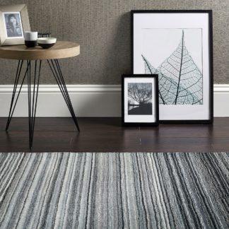 An Image of Fine Stripes Rug Grey