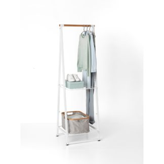 An Image of Brabantia Small White Linen Indoor Clothes Rack White