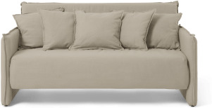 An Image of Medina Large Double Sofa Bed, Almond