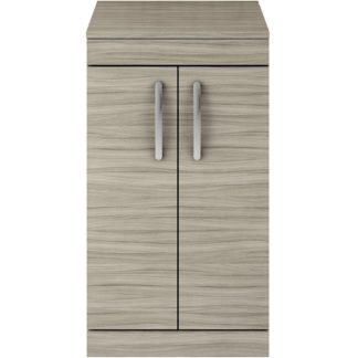 An Image of Balterley Rio 500mm Freestanding 2 Door Vanity With Worktop - Driftwood