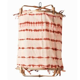 An Image of Hanging Tie Dye Decorative Shade, Rust