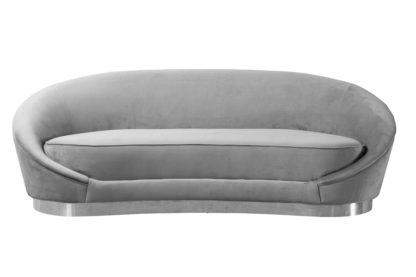 An Image of Selini Three Seat Sofa - Dove Grey