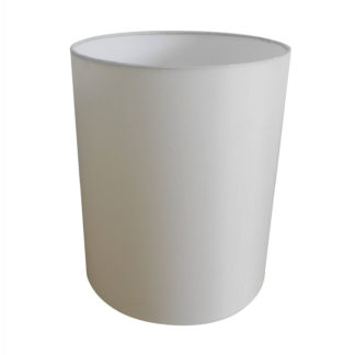 An Image of Cylinder Lamp Shade - Cream - 20cm