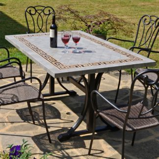 An Image of Burlington 6 Seater Dining Set with Ascot Chairs Black