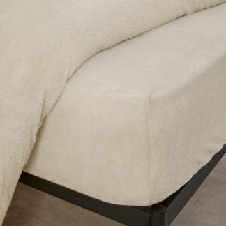 An Image of Teddy Bear Fitted Sheet Cream