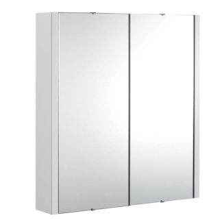 An Image of Balterley Bianca 600mmmm Mirror Cabinet - Gloss White