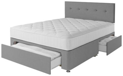 An Image of Argos Home Dalham 800 Pkt Memory 3Drw Divan-Small Double