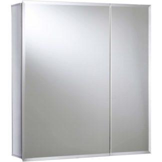 An Image of Croydex Newton Bi-view Aluminium Bathroom Cabinet