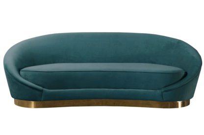 An Image of Selini Three Seat Sofa - Peacock