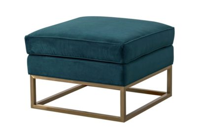 An Image of Kenza Footstool - Peacock