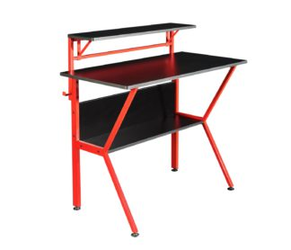 An Image of Virtuoso Outlaw Gaming Desk - Black & Red