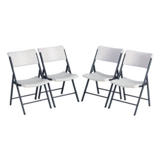 An Image of Lifetime Ultimate Comfort Folding Chair (Pack of 4)