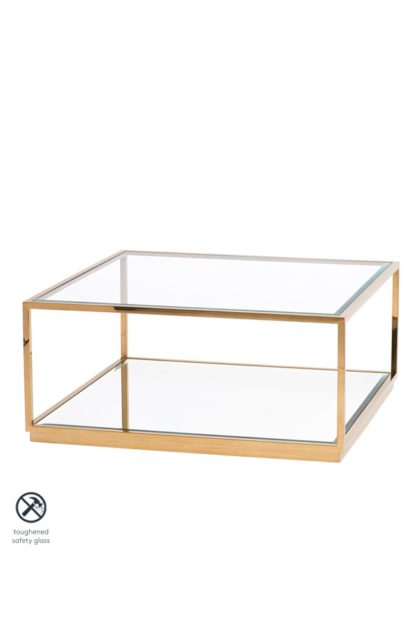 An Image of Rippon Brass Square Coffee Table