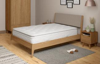 An Image of M&S Pillowtop Natural Wool 1050 Pocket Sprung Medium Mattress