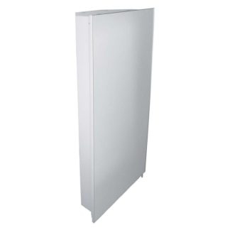 An Image of Croydex Houston Corner Iluminated Aluminium Bathroom Cabinet
