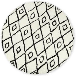 An Image of Fes Round Tufted Wool Round Rug, Large 200cm diam, Off White