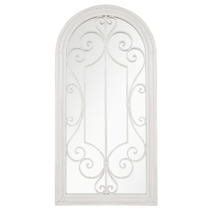 An Image of Scrolled Arch Garden Mirror