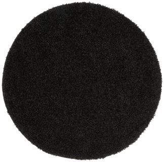 An Image of Buddy Mat Rug - 100x100cm - Black.