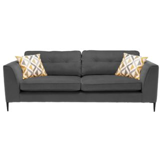 An Image of Conza Extra Large Sofa, Plush Charcoal
