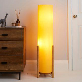 An Image of Bjorn Ochre Floor Lamp Ochre
