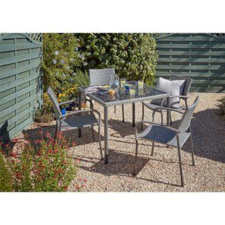 An Image of Bambrick 4 Seater Garden Dining Set